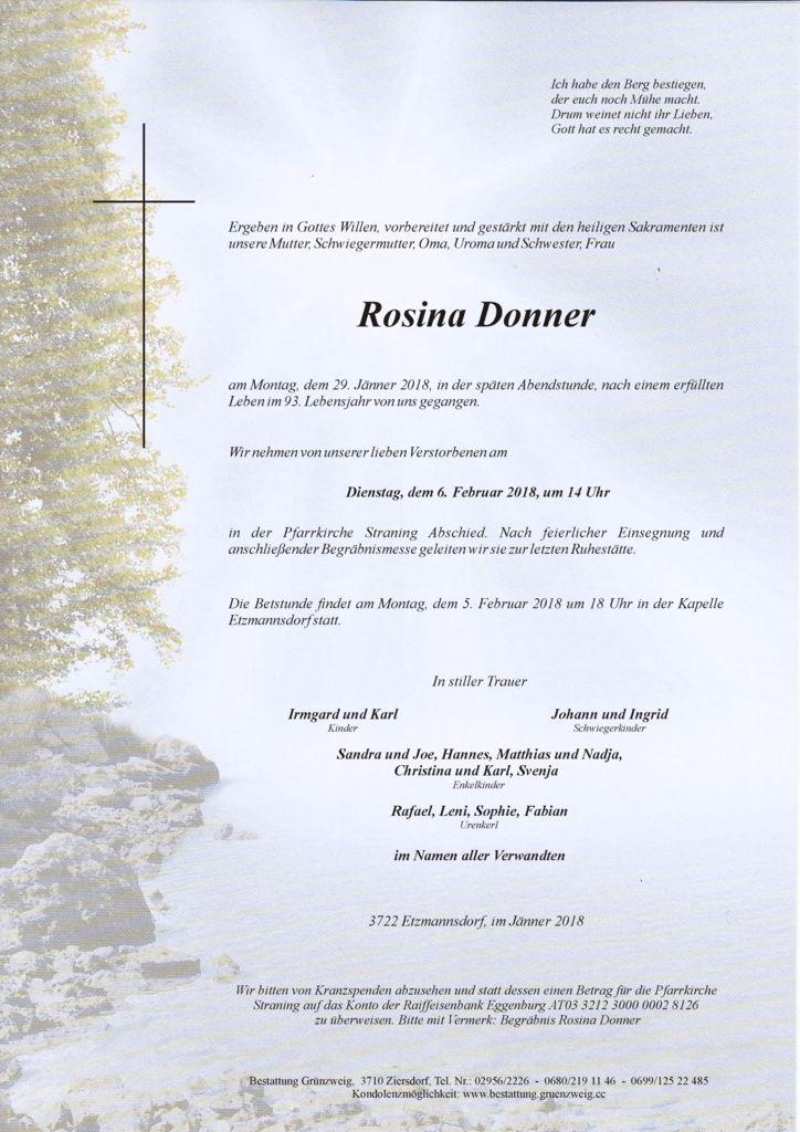 Rosina Donner