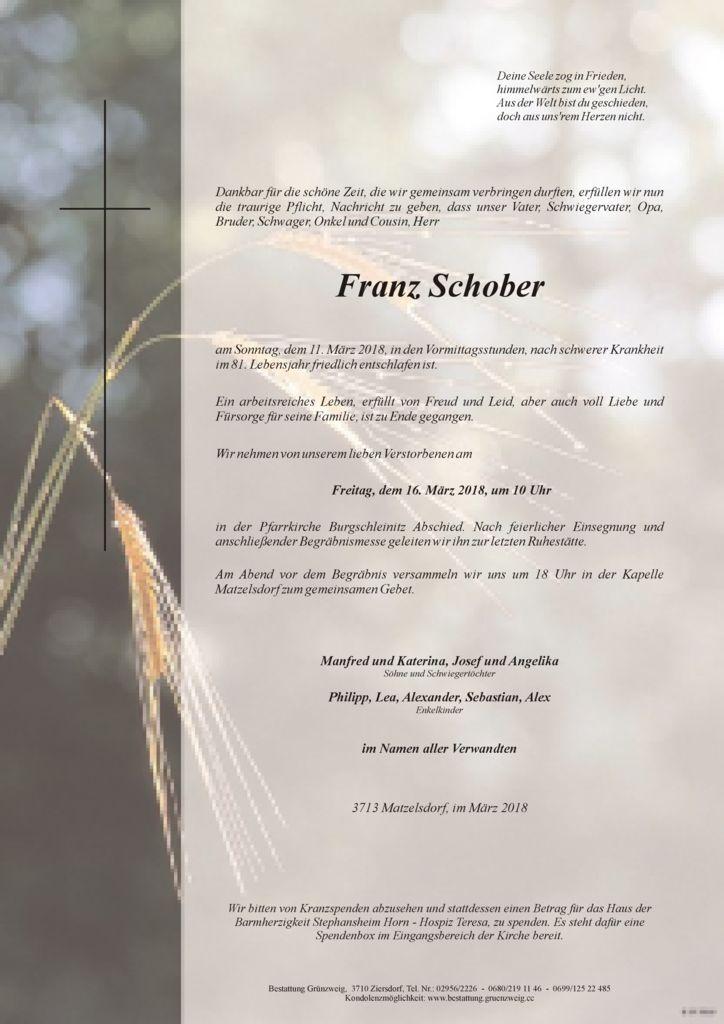 Franz Schober