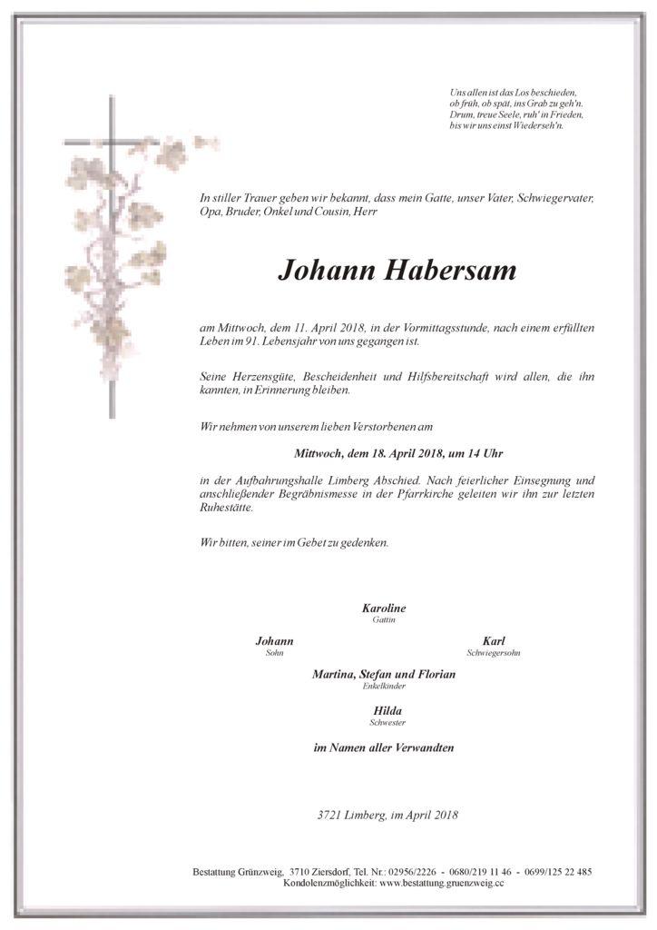 Johann Habersam