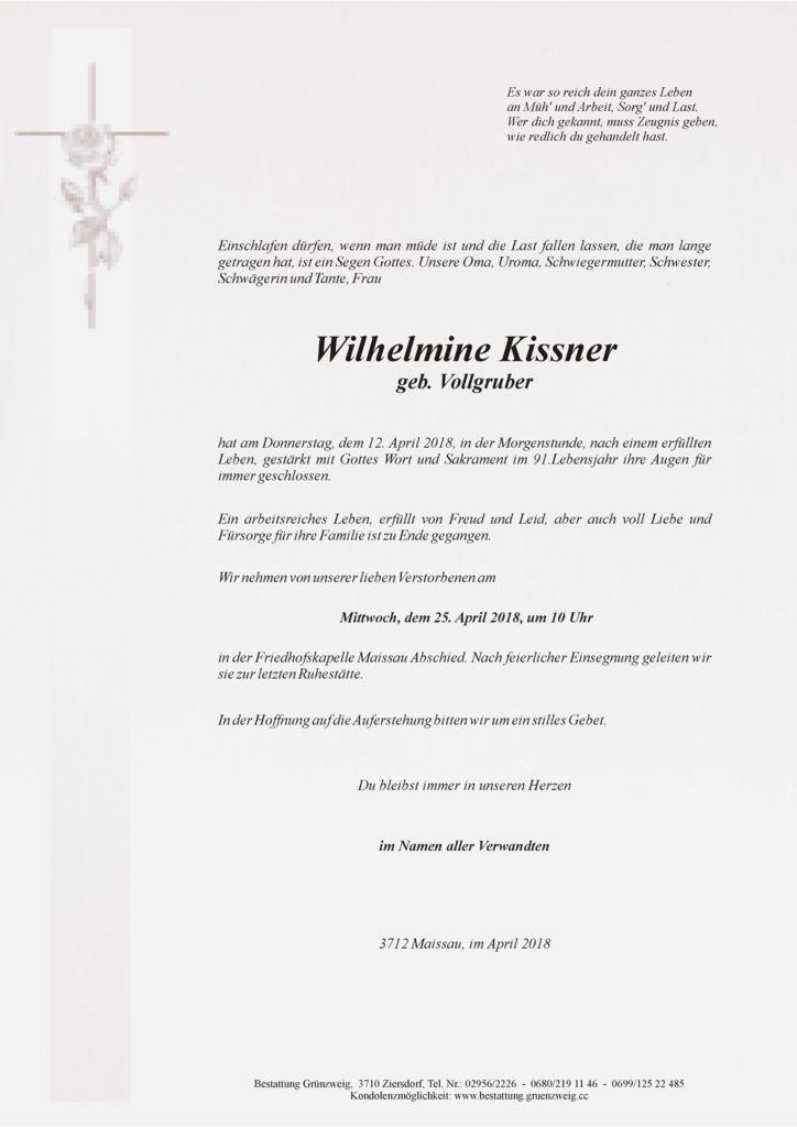 Wilhelmine Kissner