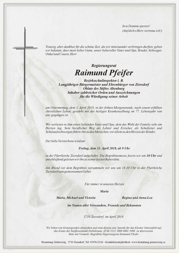 Regierungsrat Raimund Pfeifer