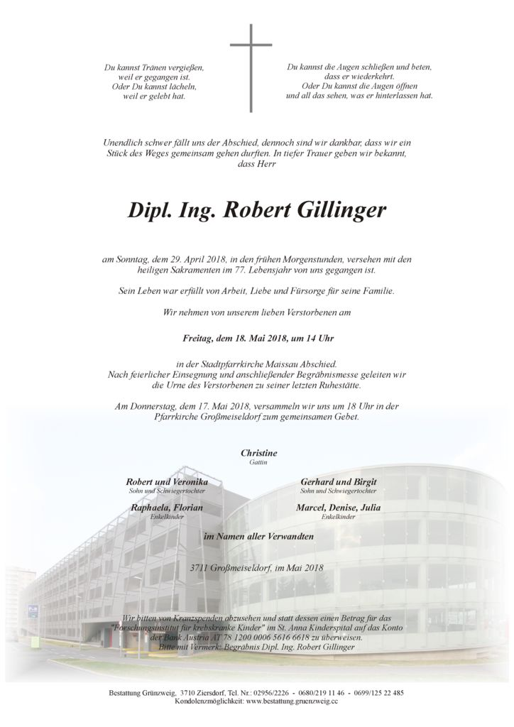 Dipl. Ing. Robert Gillinger