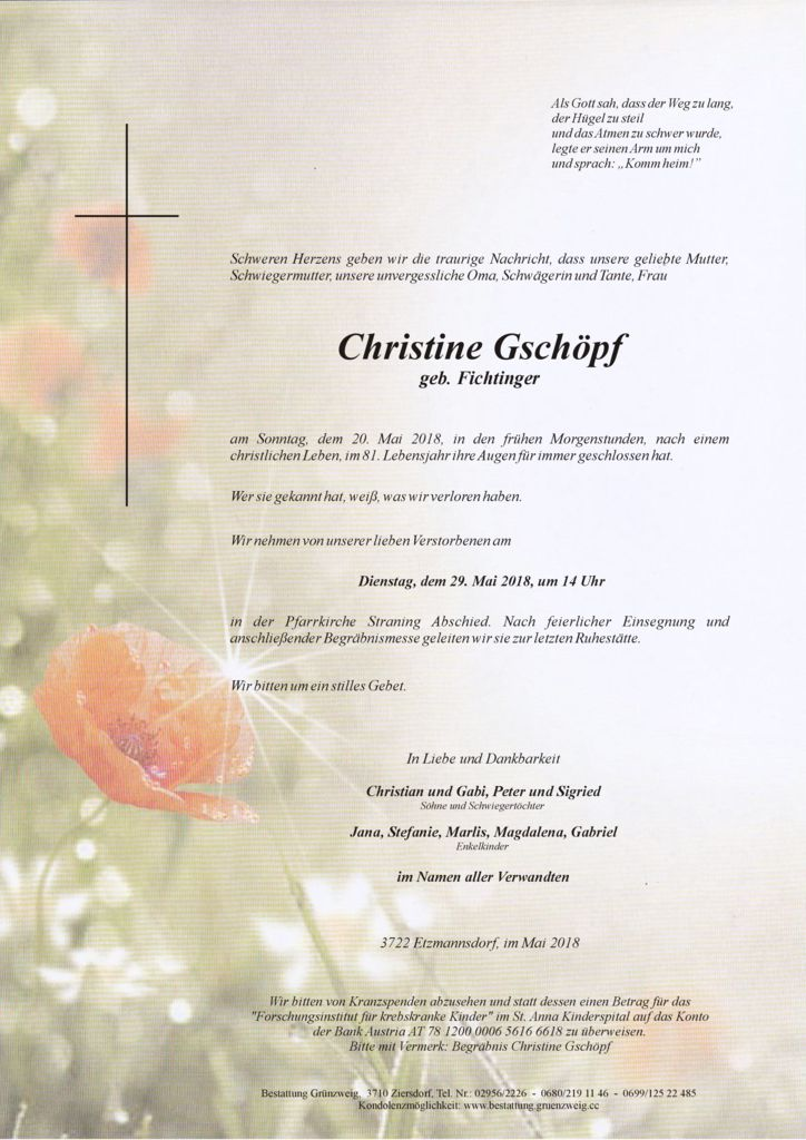 Christine Gschöpf