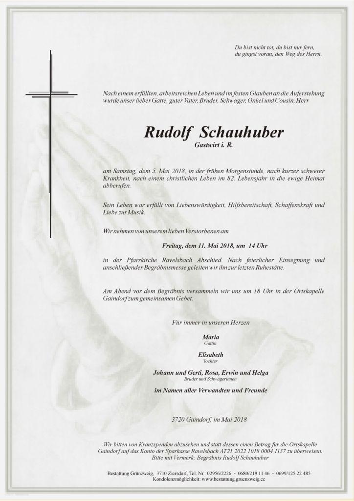 Rudolf Schauhuber