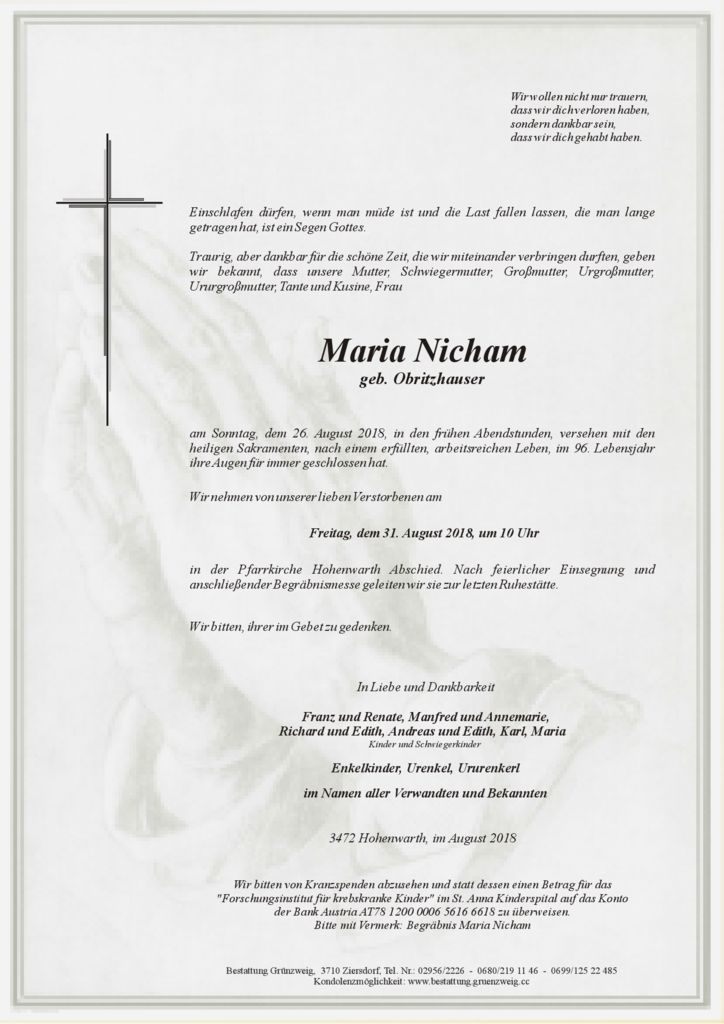 Maria Nicham