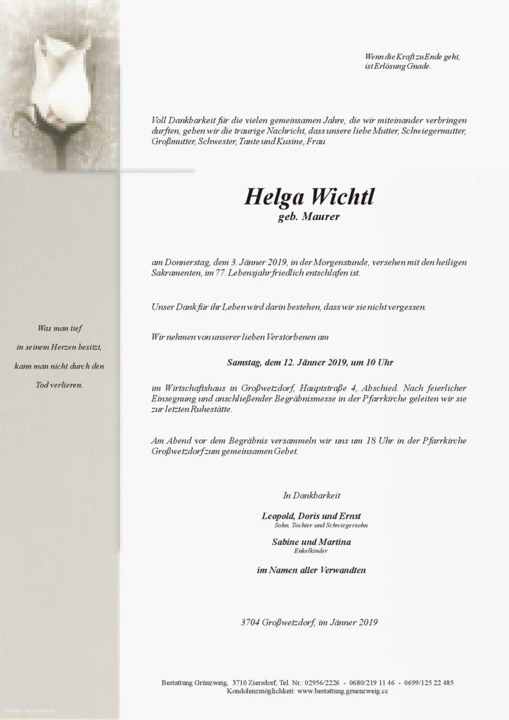 Helga Wichtl