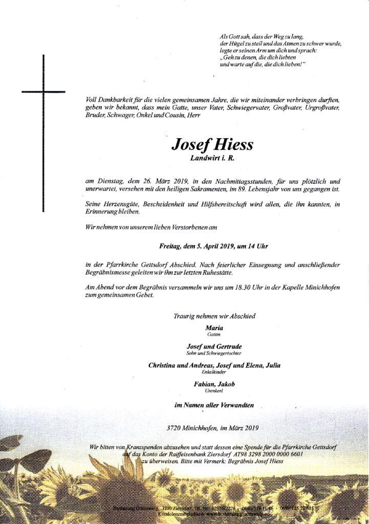 Josef Hiess