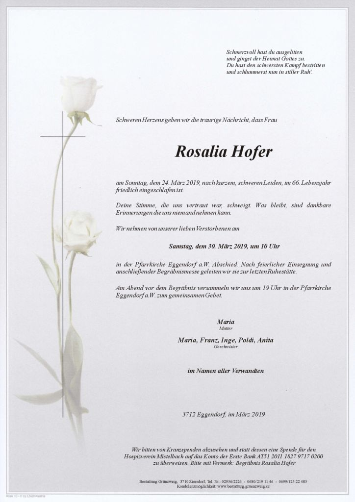 Rosalia Hofer