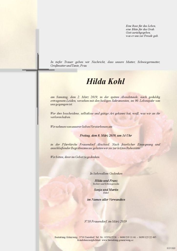 Hilda Kohl
