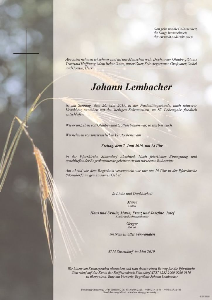 Johann Lembacher