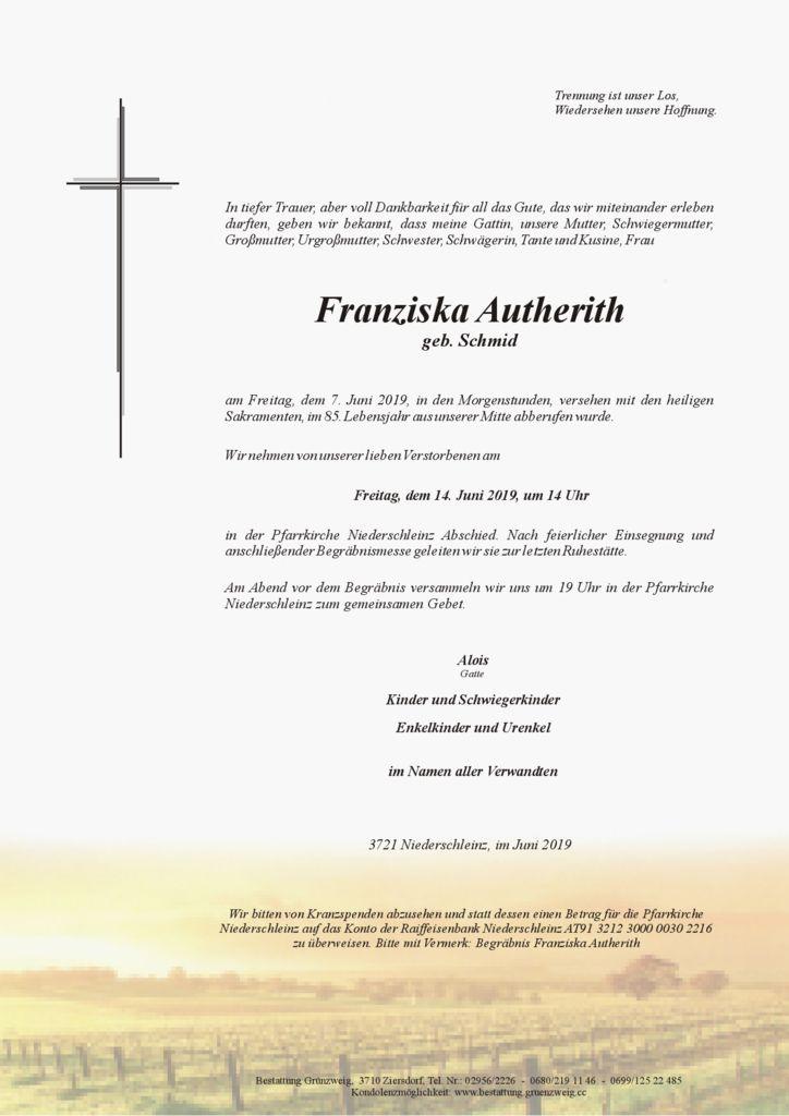 Franziska Autherith