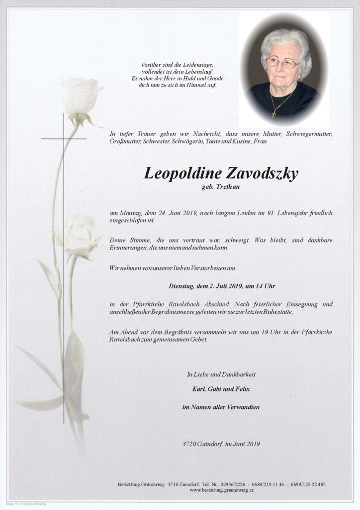 Leopoldine Zavodszky