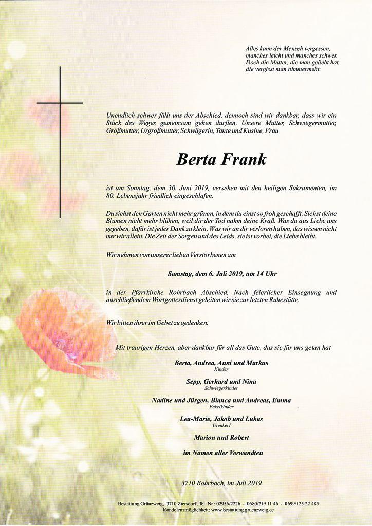 Berta Frank