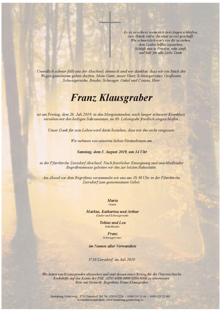 Franz Klausgraber