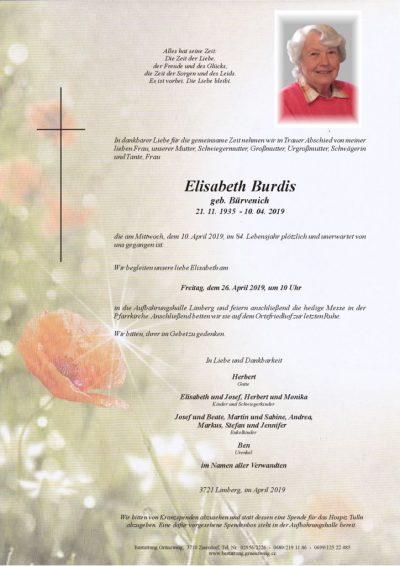 Elisabeth Burdis