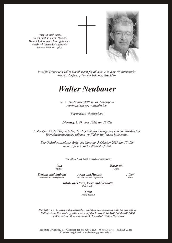 Walter Neubauer