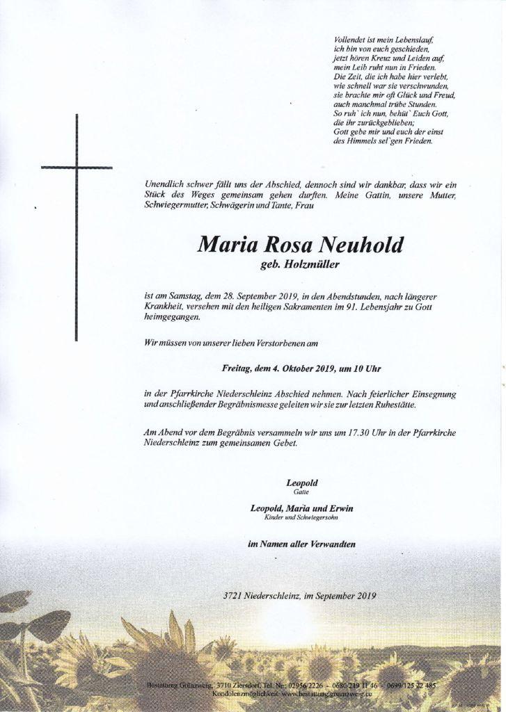 Maria Rosa Neuhold