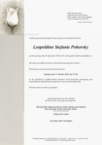 Leopoldine Stefanie Pohorsky
