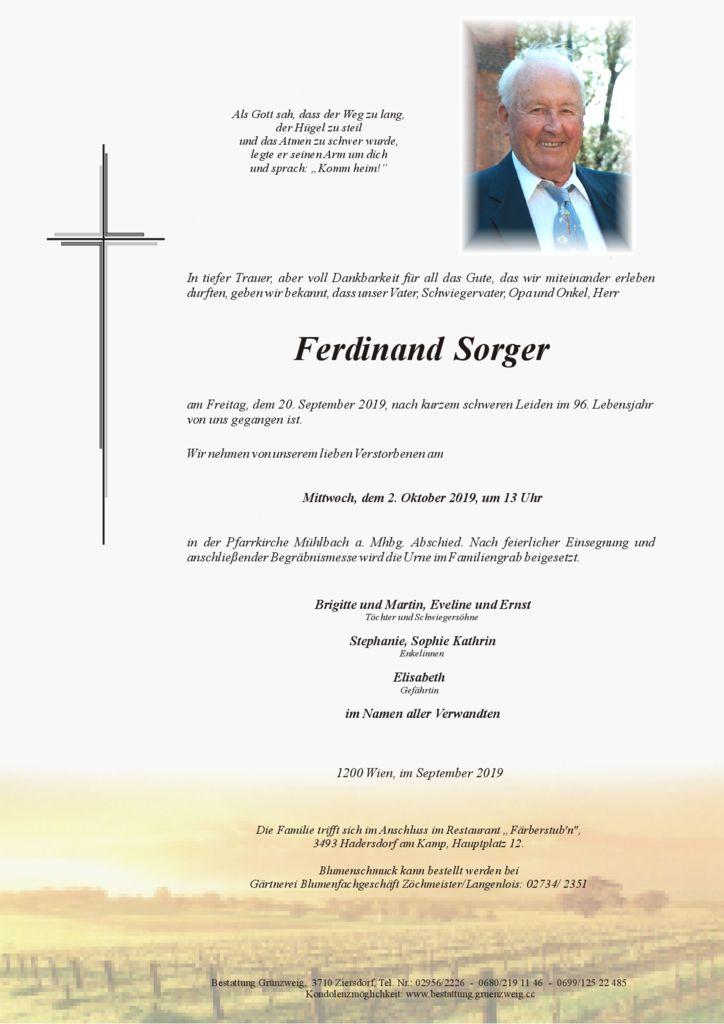 Ferdinand Sorger