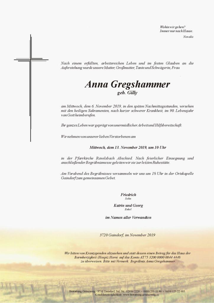 Anna Gregshammer