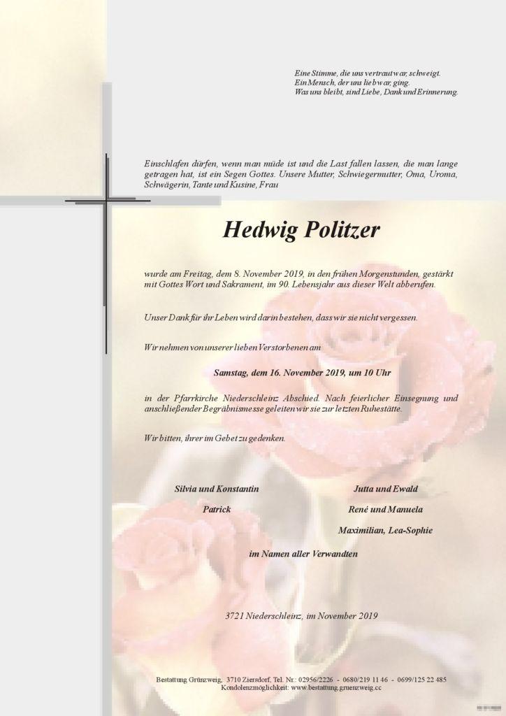 Hedwig Politzer