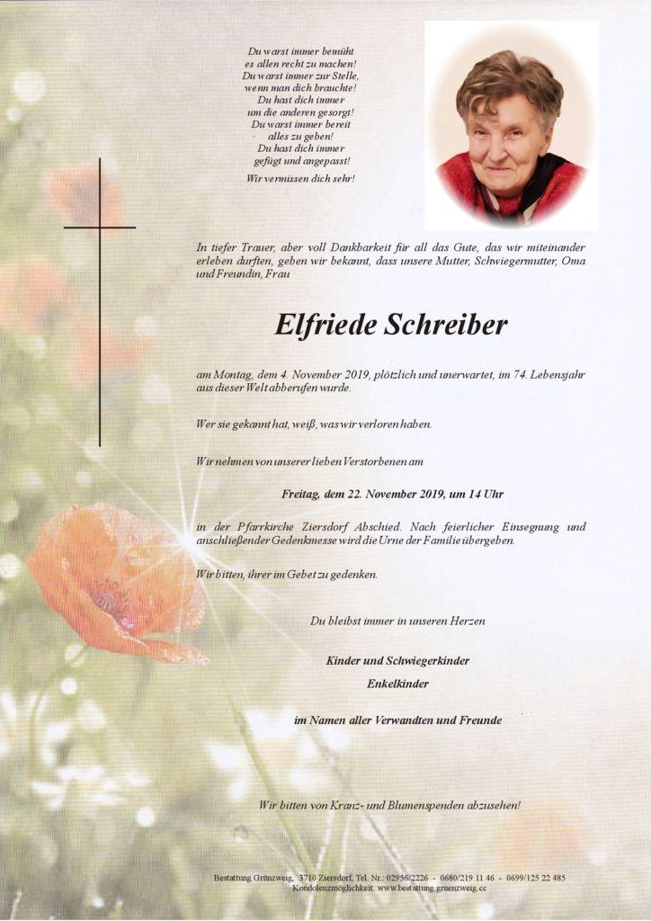 Elfriede Schreiber