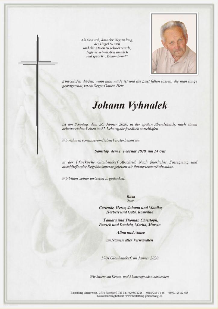 Johann Vyhnalek