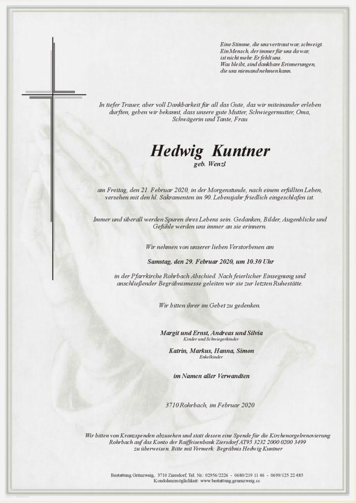 Hedwig Kuntner
