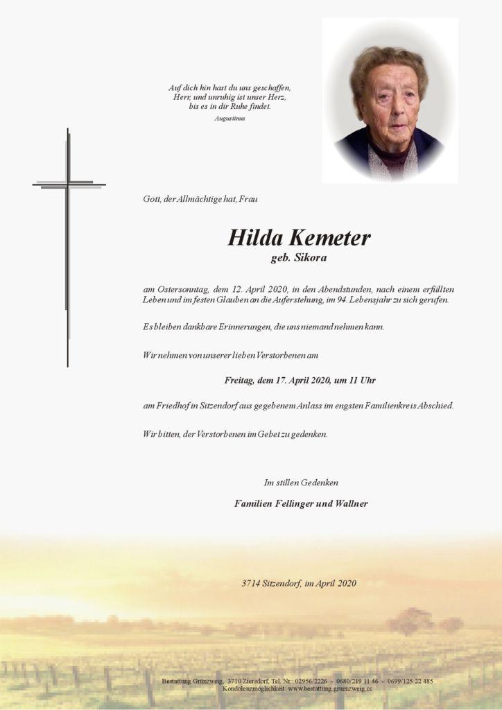 Hilda Kemeter