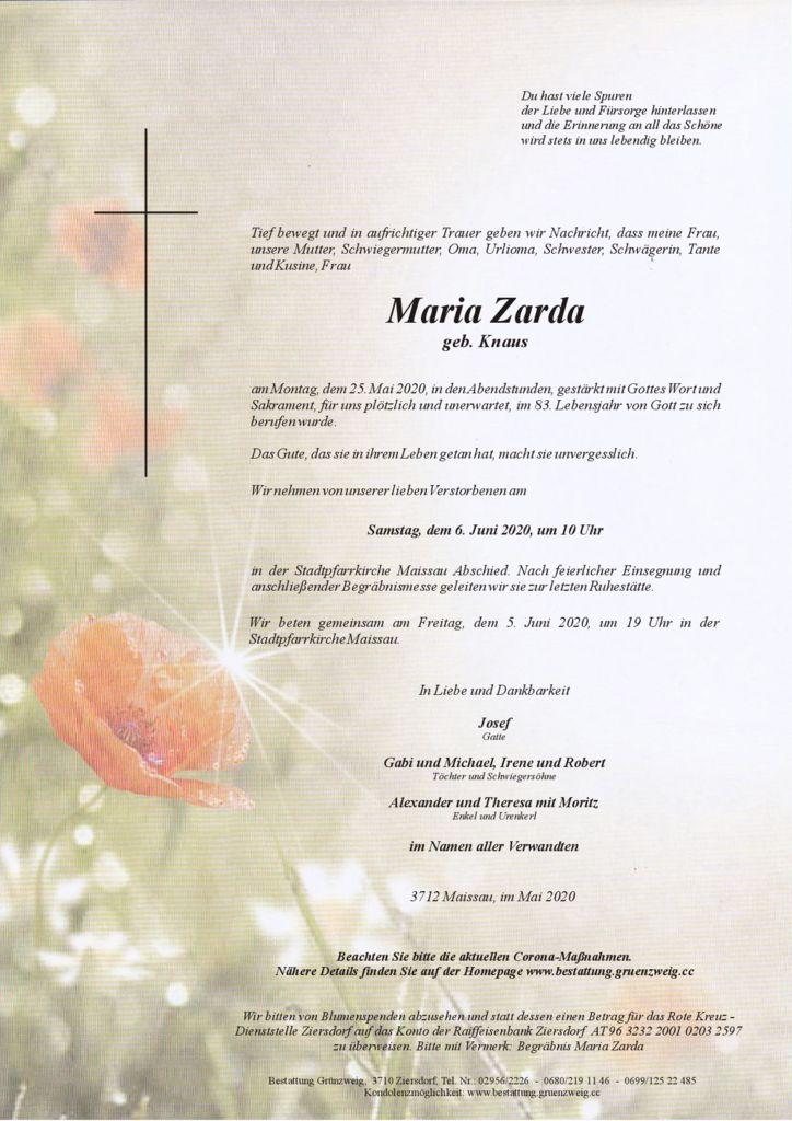 Maria Zarda