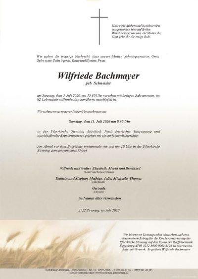 Wilfriede Bachmayer