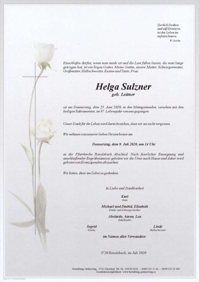 Helga Sulzner