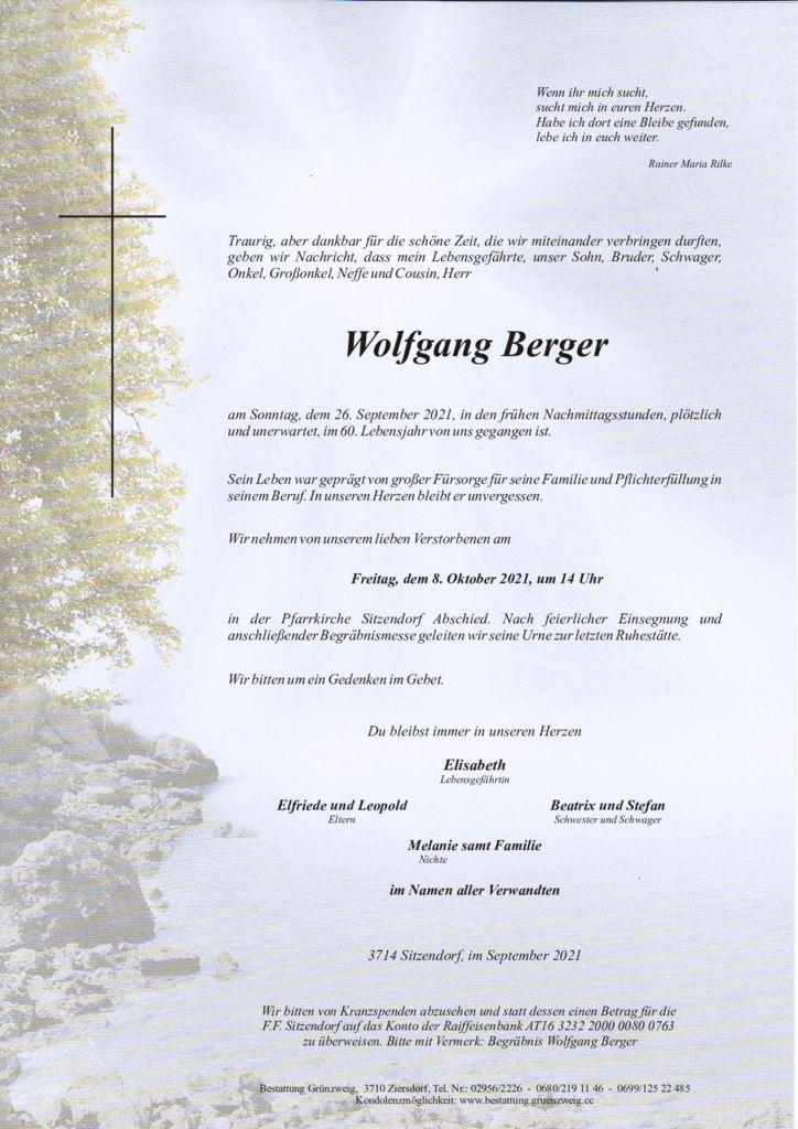 Wolfgang Berger