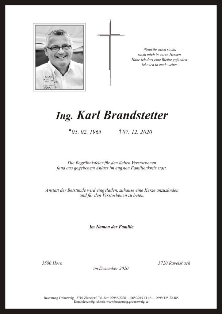 Ing. Karl Brandstetter