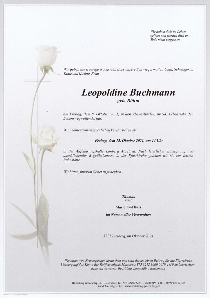 Leopoldine Buchmann