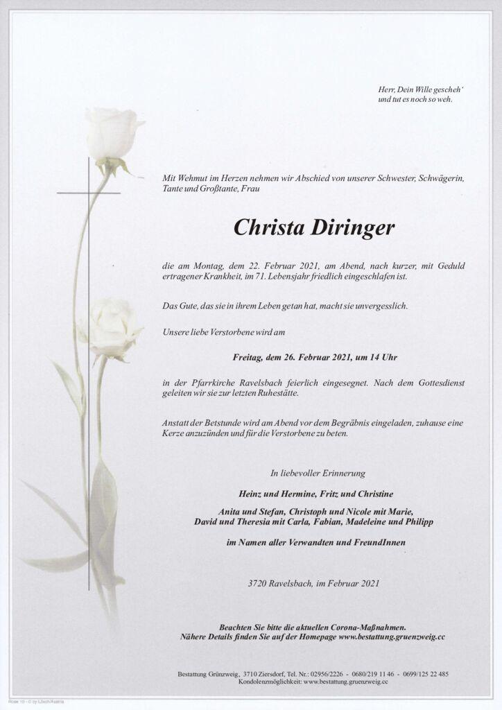 Christa Diringer