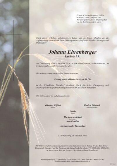 Johann Ehrenberger