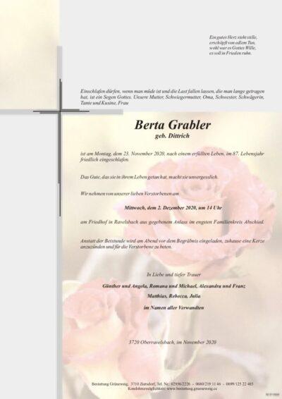 Berta Grabler