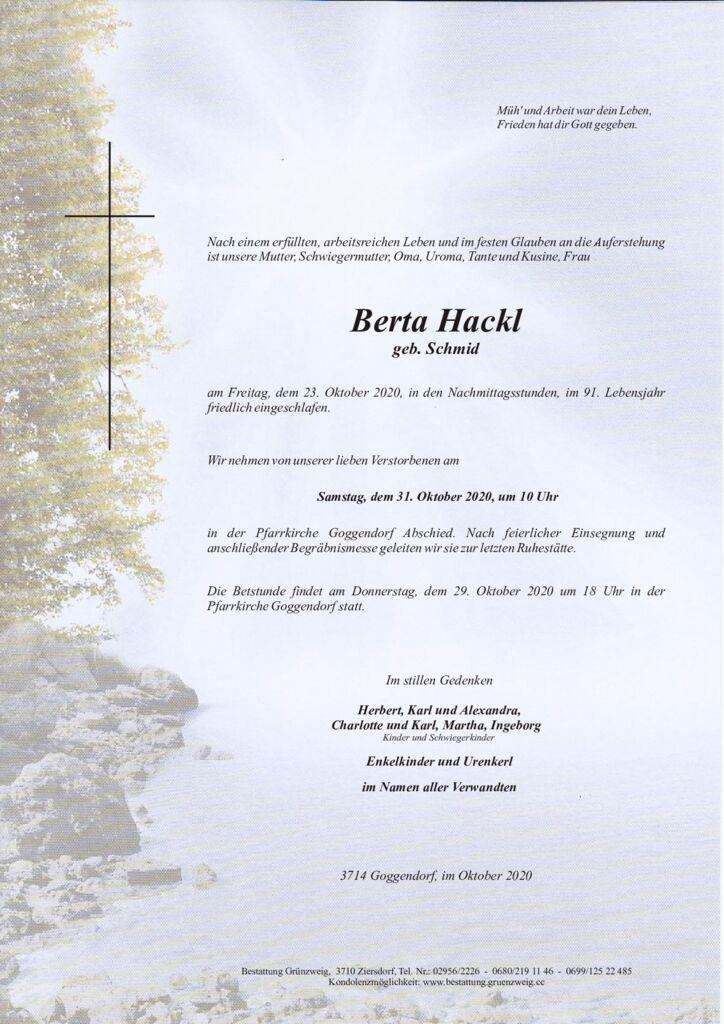 Berta Hackl