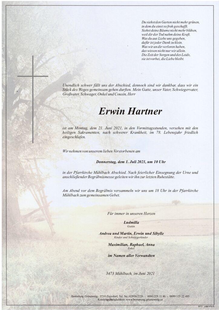 Erwin Hartner