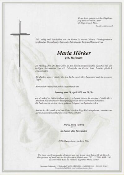 Maria Hörker