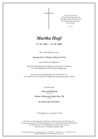 Martha Hogl