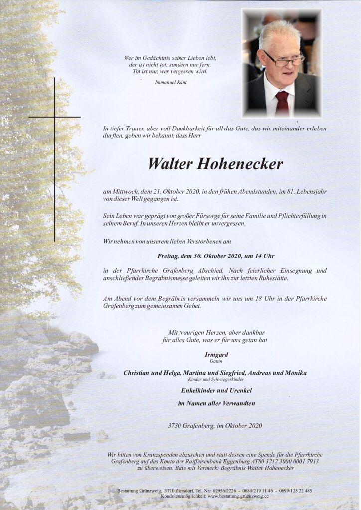 Walter Hohenecker