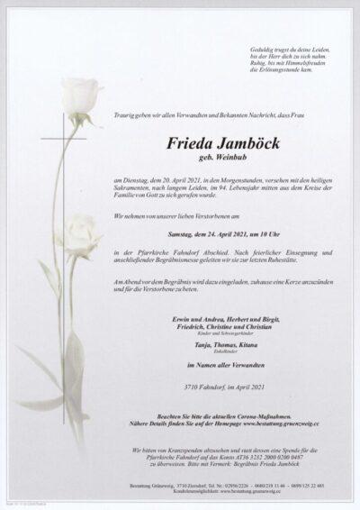 Frieda Jamböck