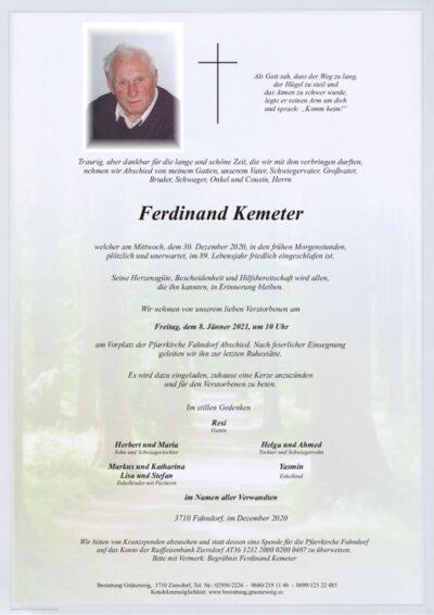 Ferdinand Kemeter