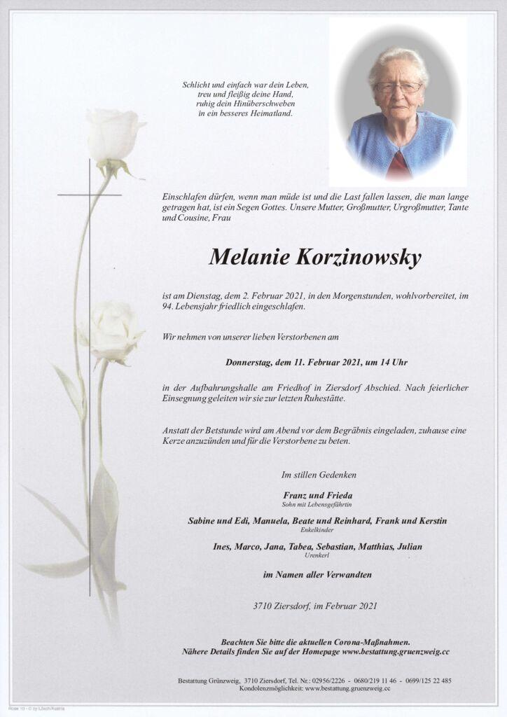 Melanie Korzinowsky