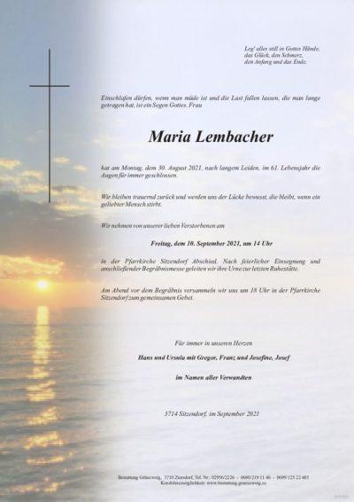 Maria Lembacher