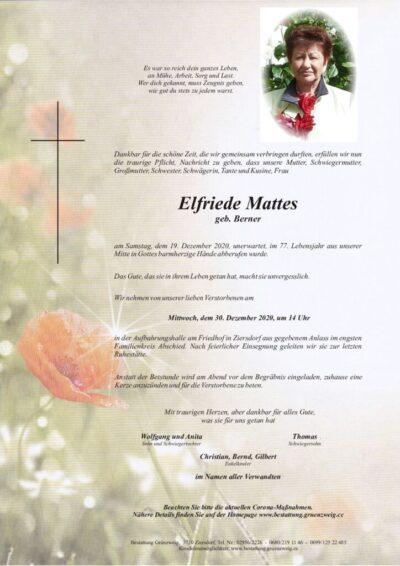 Elfriede Mattes