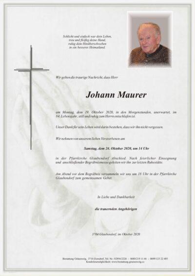 Johann Maurer