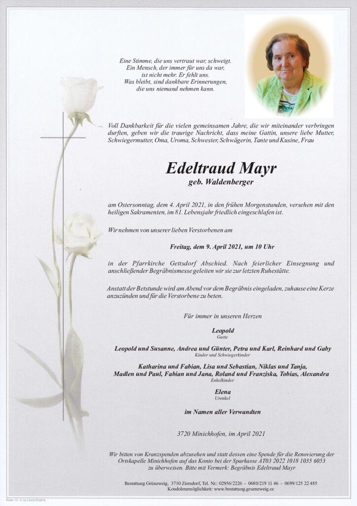 Edeltraud Mayr